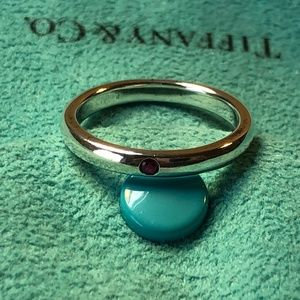 Tiffany & Co Ruby Stacking Ring Size 6.25